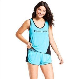 NWT Turquoise & Black Bebe Pajama Set